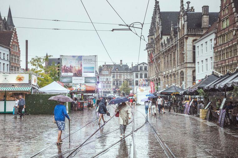 Gentse Feesten in de regen, Korenmarkt