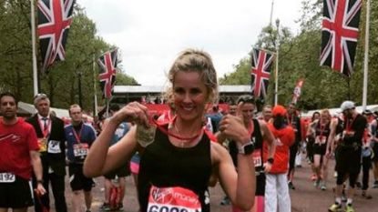 Joke Van de Velde veilt haar bezwete marathonoutfit
