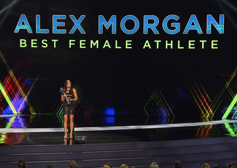 Voetbalster Alex Morgan werd verkozen tot 'atlete van het jaar'.