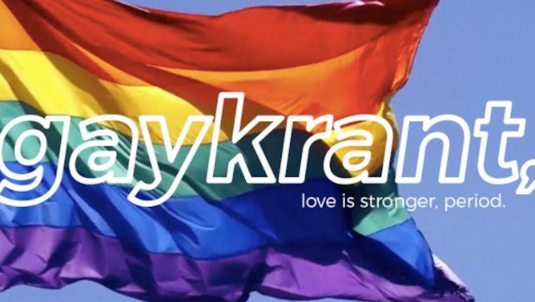 De Gaykrant wordt nieuw leven ingeblazen. Beeld Screenshot Gaykrant