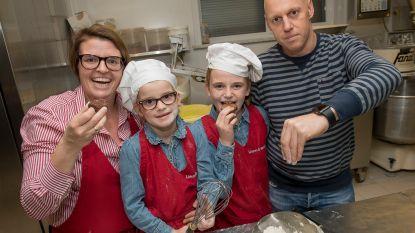 Zusjes Céleste (6) en Camille (10) bakken brownies voor papa met kanker, hele dorp springt bij