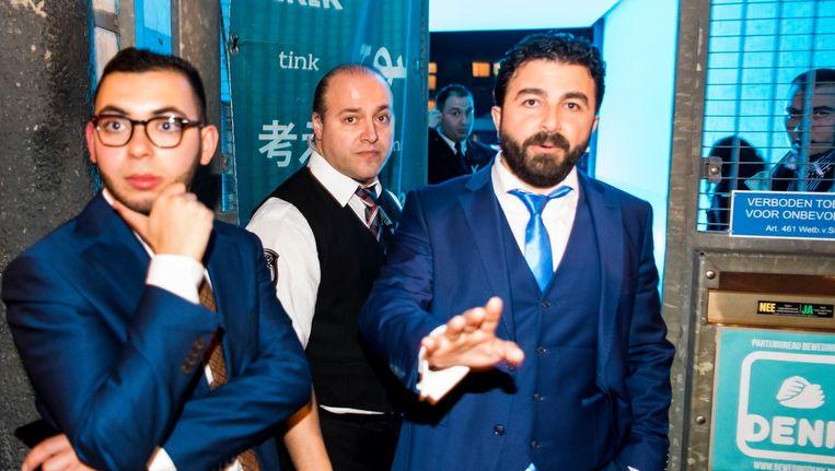 Selcuk Ozturk voor het partijkantoor van Denk in Rotterdam Beeld anp