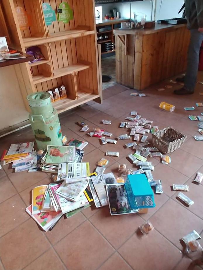 Het resultaat van de inbraak in maart.