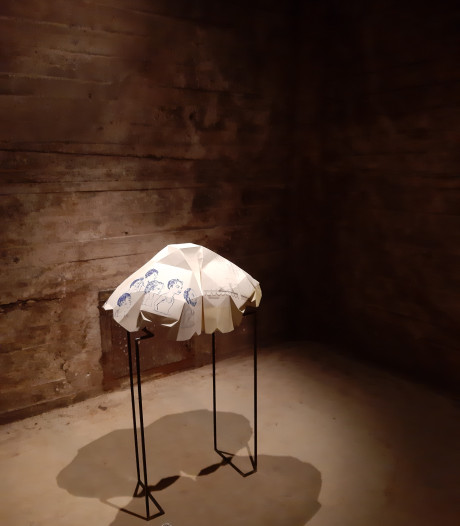 Prettige expo Eindhovense kunstenaressen in silo Veghel mist verdieping