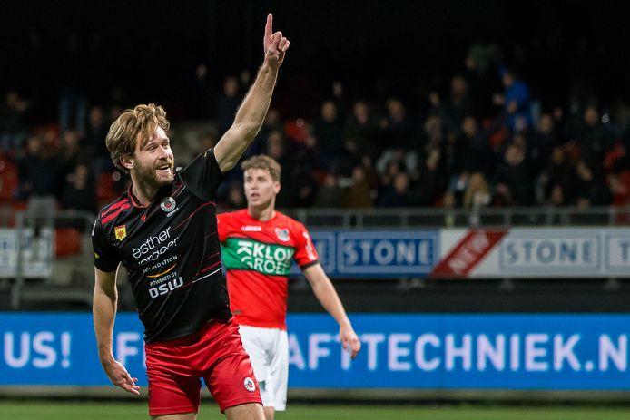 Thomas Verhaar van Excelsior na de 2-2.