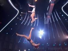 Trapeze-act America's Got Talent gaat op pijnlijke wijze fout