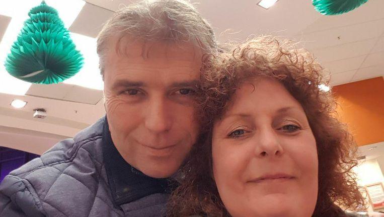 Wendy Geertsema en haar vriend Cor Kesting. Beeld