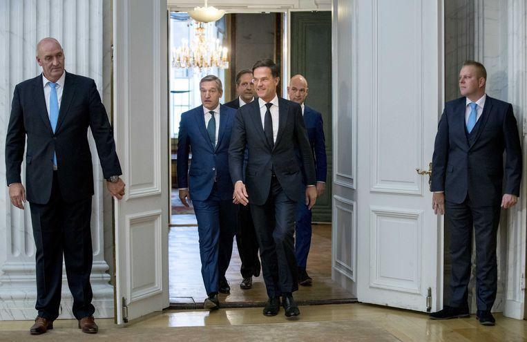 VVD, CDA, D66 en ChristenUnie lopen over van begrip voor mensen die menen dat de overheid er niet voor hen is. Beeld ANP