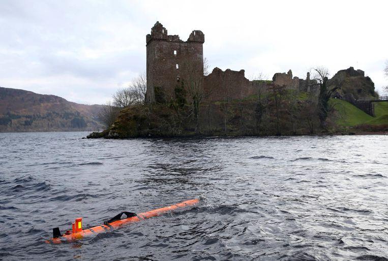 De robotscanner die in 2016 een vreemde vorm vond op de bodem van Loch Ness.