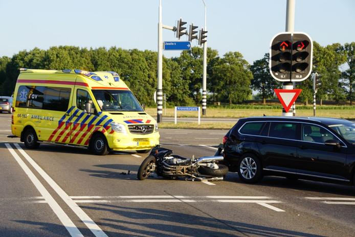 De motor raakte bij het ongeval zwaar beschadigd.