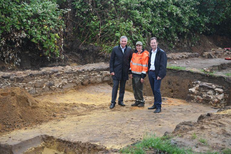 De archeologische site in de Abdij van Vlierbeek.