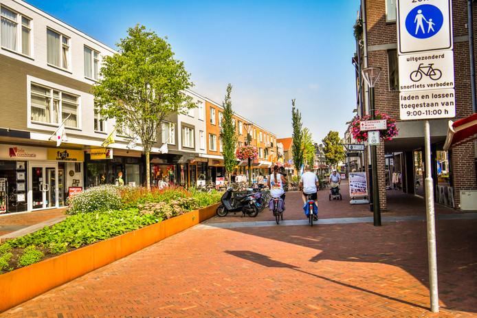Geldrop, korte kerkstraat, voetgangersgebied