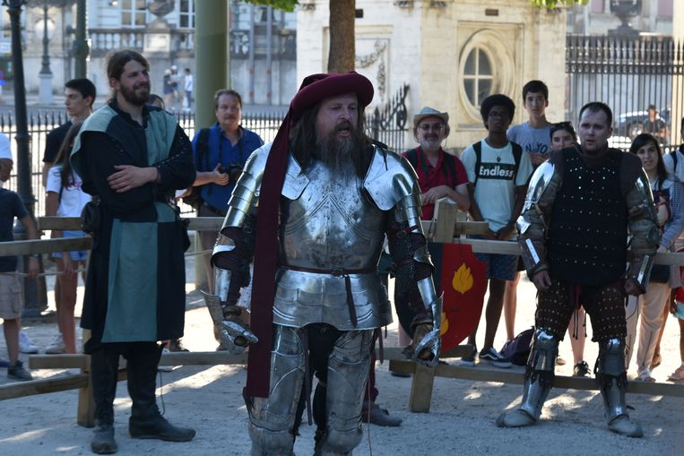 Het warme weer schrikte de stoere ridders niet af
