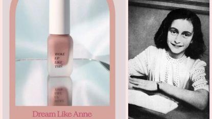 Make-upmerk onder vuur omdat het blush naar Anne Frank vernoemt