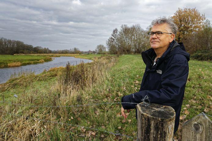 Rob Brinkhof bij de Essche Stroom in Sint-Michielsgestel.