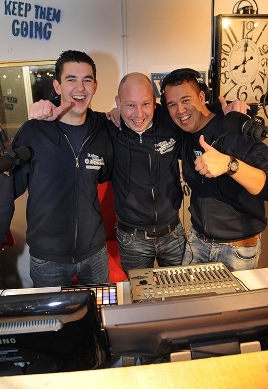 De drie dj's van het Glazen Huis in Domburg in 2015.