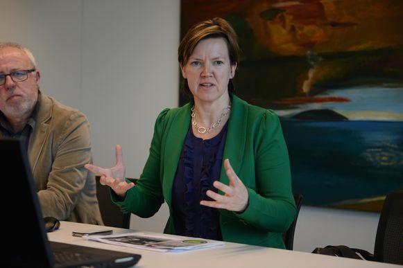 Schepen Els Van Hoof (CD&V) wil garanties over project Broeksite op de plaats waar het afgevoerde Uplace zou komen.