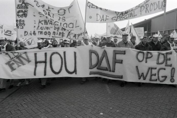 Grote DAF demonstratie in Eindhoven