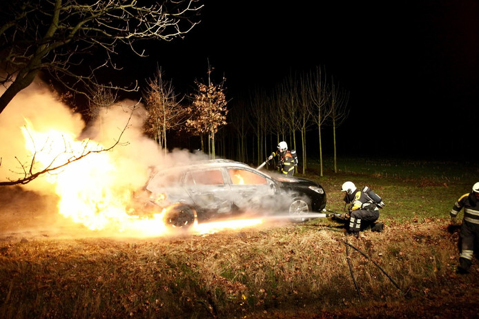 De brandweer bluste de brand.