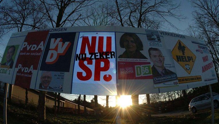 De SP doet voor het eerst mee aan de deelraadsverkiezingen in Amsterdam. Archieffoto GPD Beeld
