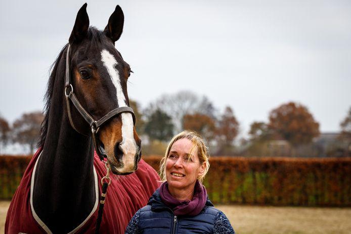 Angelique Hoorn is haar toppaard Brego R'N B kwijtgeraakt.