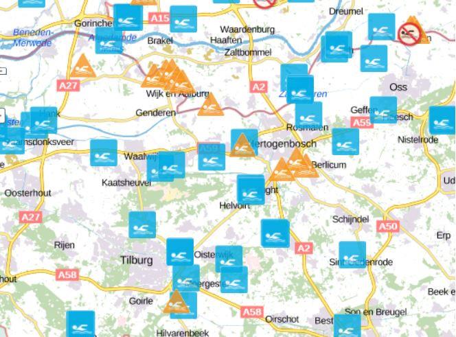 Hier kun je nog veilig zwemmen in Midden-Brabant.