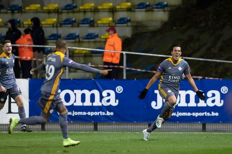 De vreugde is gigantisch bij Jérémy Perbet na zijn winning goal.