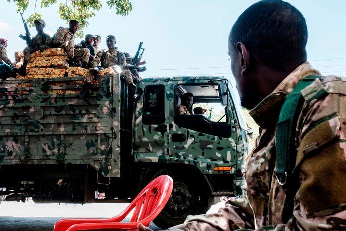 Leden van de Amhara Special Forces.