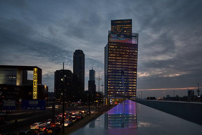 De verbouwde KPN-toren aan het Wilhelminaplein.