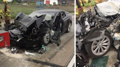 """Tesla legt fout voor crash met Autopilot bij afgeleide vrouw, Musk vindt kritiek en aandacht """"waanzinnig"""""""