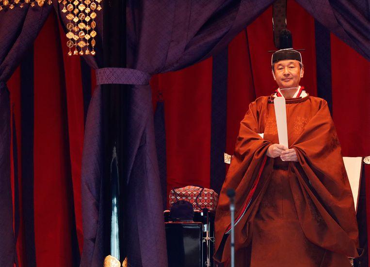 De Japanse keizer Naruhito heeft officieel de troon aanvaard.