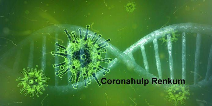 Het logo van Coronahulp Renkum.