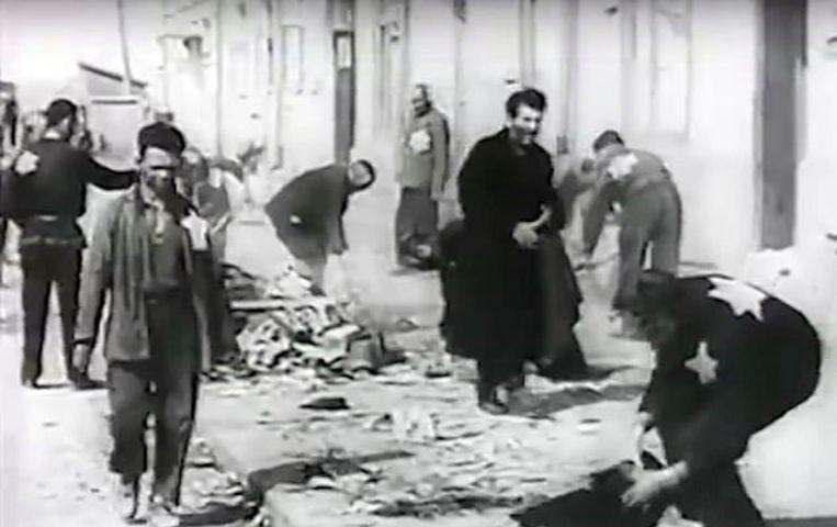 Het getto van Brest waar de Joden verplicht werden een ster te dragen.