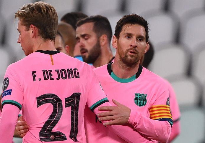 Lionel Messi met Frenkie de Jong.