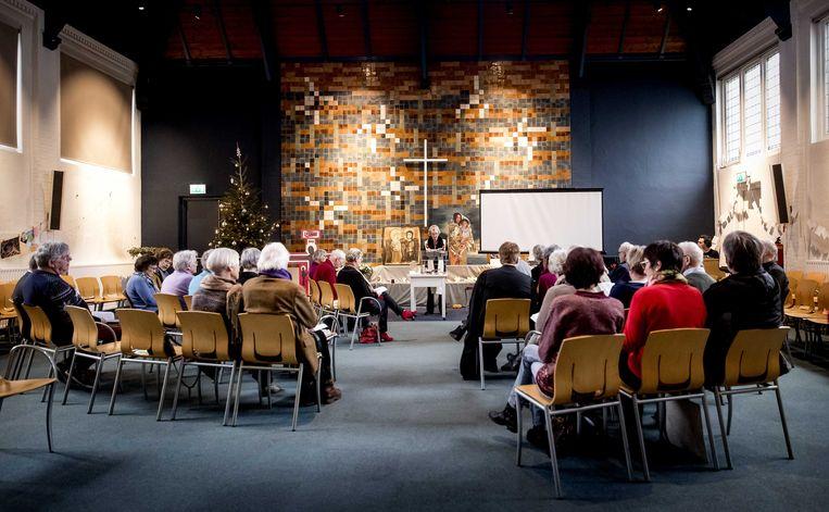 In de Bethelkerk (hier op oudejaar) werd er 96 dagen aan een stuk een eredienst gehouden zodat de Nederlandse veiligheidsdiensten het Armeense gezin niet zou kunnen komen ophalen.