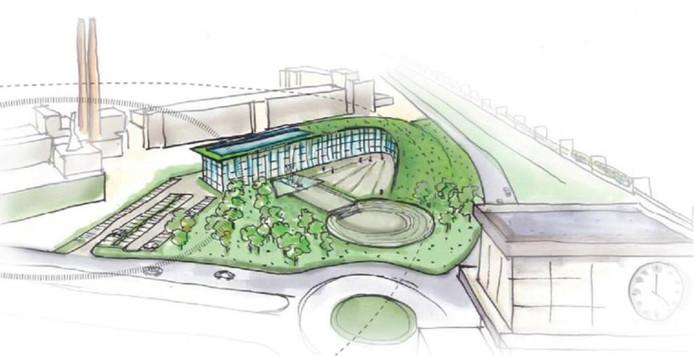 Ontwerp met groen dak, Van Aken Architecten.