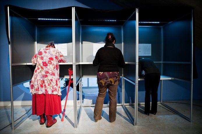 Stemmen is niet alleen voorbehouden aan mensen zonder handicap.