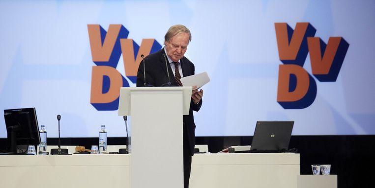 Benk Korthals tijdens de tweede dag van het VVD-congres in mei van dit jaar. Beeld anp
