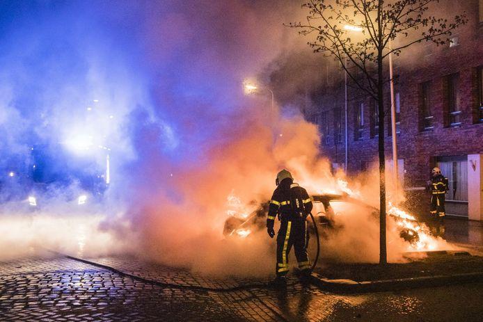 De brandweer rukte uit.