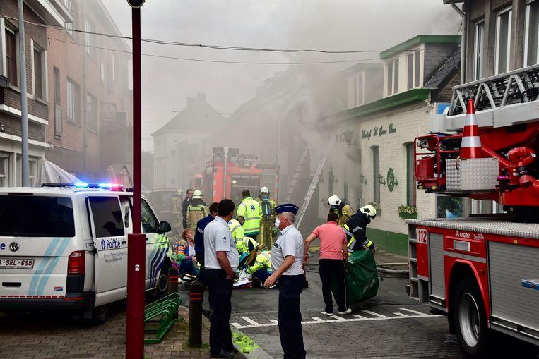 De brand richtte zware schade aan in het recent gerenoveerde praatcafé De Groene Dreve.
