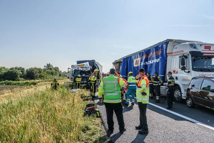 Ongeval op de A59 bij Terheijden.
