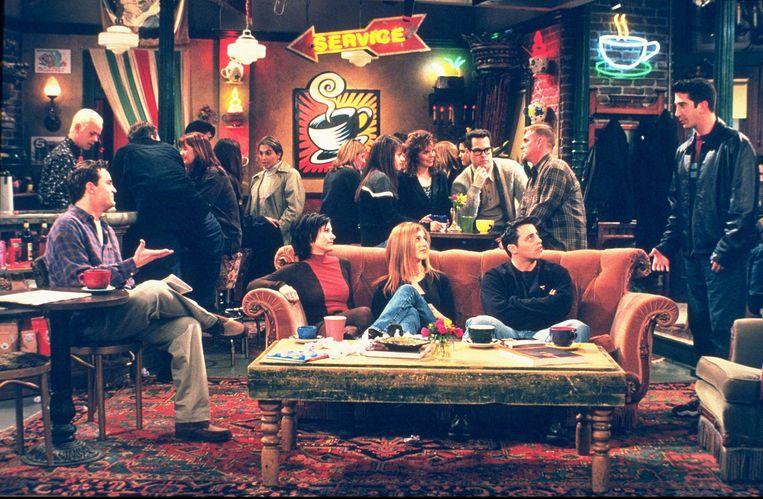 David Schwimmer op de set van 'Friends'.