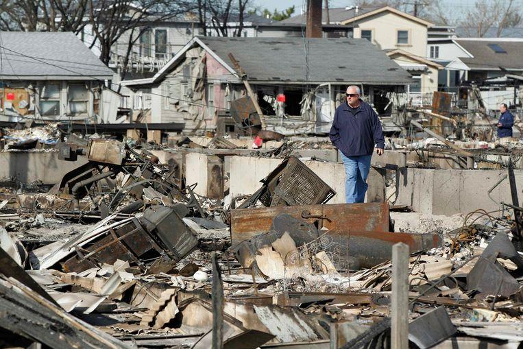 Queens  na superstorm Sandy.   Beeld REUTERS