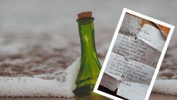 Boodschap in fles duikt na acht jaar opnieuw op