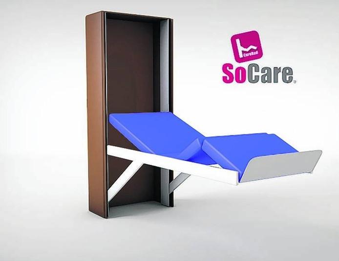 Het SoCare zorgbed van Blom Care Innovations uit Oirschot.