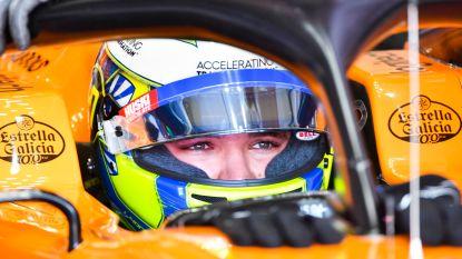 Lando Norris op laatste startrij in Grote Prijs van Duitsland