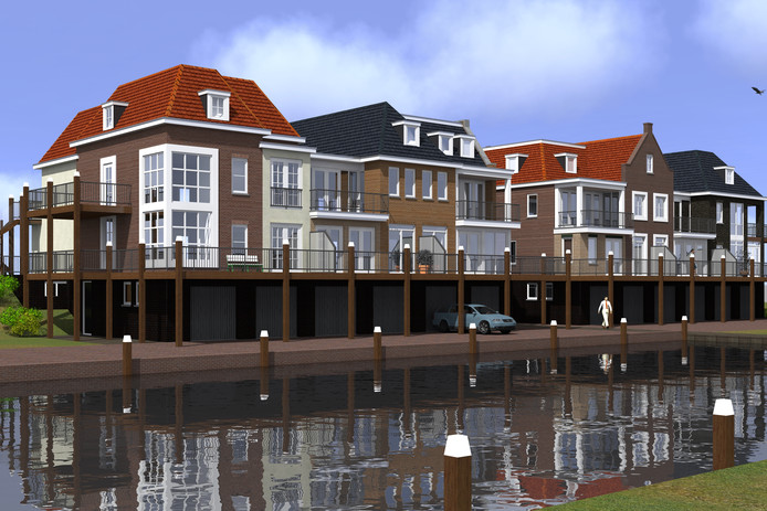 Een impressie van Aedes Maritima, het appartementencomplex dat gepland staat aan de Oude Haven in Colijnsplaat.