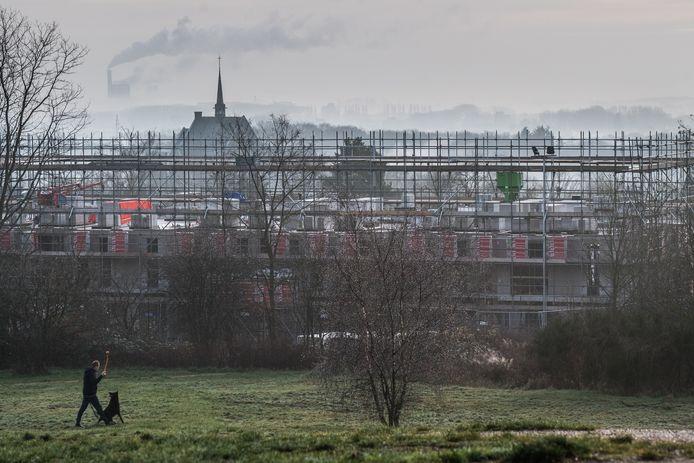 De nieuwbouw op Hoogte 80 op de grens van de Arnhemse wijken Geitenkamp en Monnikenhuizen.