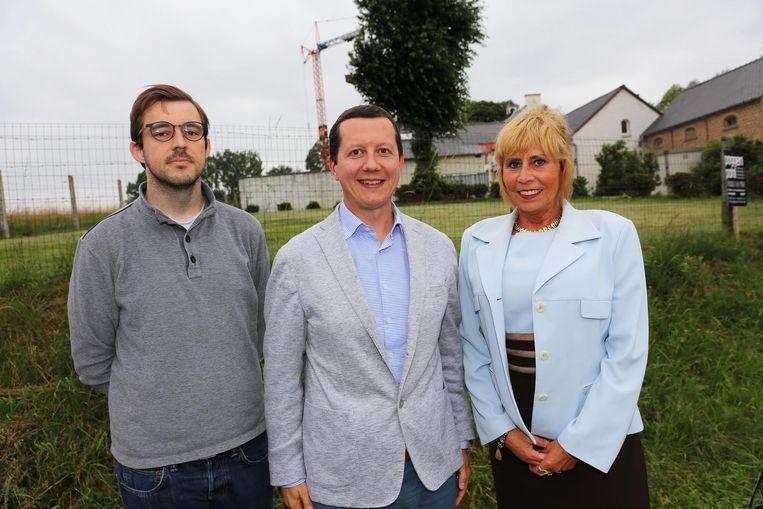 Lijsttrekker Tim Herzeel met nieuwkomers Bert Van Der Veken en Krist'l De Paepe.