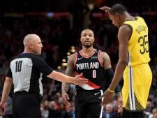 Trail Blazers verslaan Warriors in NBA